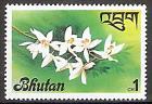Briefmarke Bhutan Mi.Nr. 669 ** Flora 1976 Motiv: Orchidee (#10043)