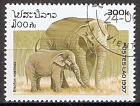 Briefmarke Laos Mi.Nr. 1586 o Elefanten 1997 Motiv: Asiatischer Elefant (Elephas maximus) (#10044)