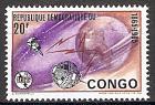 Briefmarke Kongo-Kinshasa Mi.Nr. 232 ** 100 Jahre Internationale Fernmeldeunion (ITU) 1965 Motiv: Erdkugel, Satelliten, Blitzstrahlen und ITU-Emblem (#10047)