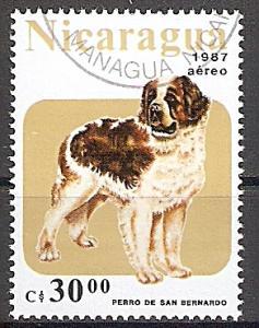 Briefmarke Nicaragua Mi.Nr. 2795 o Hunde 1987 Motiv: Hunde - Bernhardiner (#10050)