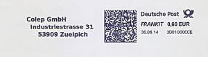 Freistempel 3D01000CCE Zuelpich - Colep GmbH (#1271)