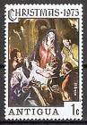 Briefmarke Antigua und Barbuda Mi.Nr. 389 ** Weihnachten 1975 Motiv: Madonnengemälde von El Greco (#10058)
