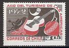 Briefmarke Chile Mi.Nr. 784 ** Jahr des amerikanischen Tourismus 1972 Motiv: Sombrero, Sporen, Kuhhorn, Gitarre, Tonkrug (#10063)