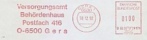 Freistempel B66 8178 Gera - Versorgungsamt Behördenhaus (#1307)