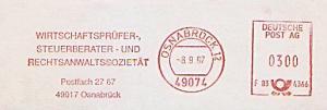Freistempel F83 4366 Osnabrück - Wirtschaftsprüfer-, Steuerberater- und Rechtsanwaltssozietät (#1326)