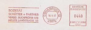Freistempel B82 3752 Osnabrück - Sozietät Schütter + Partner - Vereid. Buchprüfer STB (#1327)