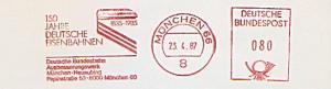 Freistempel München - Deutsche Bundesbahn Ausbesserungswerk München-Neuaubing - 150 Jahre Deutsche Eisenbahnen 1835 - 1985 (#1342)