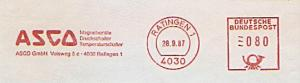 Freistempel Ratingen - ASCO GmbH - Magnetventile Druckschalter Temperaturschalter (#1351)
