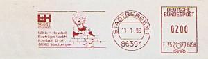 Freistempel F75 6458 Stadtbergen - L+H BAU - Löhle + Heschel Bauträger GmbH (Abb. Igel als Maurer) (#1353)