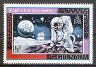 Briefmarke Grenada Mi.Nr. 319 ** 1. bemannte Mondlandung 1969  Apollo 11 Motiv: Weltraum - Astronaut sammelt Mondgestein (#10069)