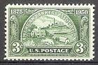 Briefmarke USA Mi.Nr. 605 ** 75 Jahre Bankiers Vereinigung 1950 Motiv: Geldstück mit Objekten für Bankwirtschaft (#10071)