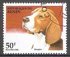 Briefmarke Benin Mi.Nr. 676 o Hunde 1995 Motiv: Hunde - Beagle (#10073)
