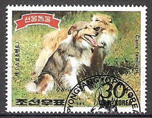 Briefmarke Korea-Nord Mi.Nr. 2994 o Tiere 1989 Motiv: Hunde - Collie (#10075)