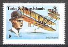Briefmarke Turks und Caicos Inseln Mi.Nr. 393 ** Geschichte der Luftfahrt: 75. Jahrestag des 1. Motorfluges der Gebrüder Wright 1978 Motiv: Flugzeuge - Flyer III, Wilbur Wright (#10076)