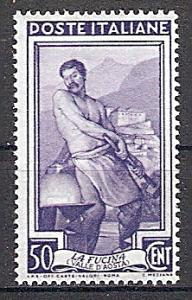 Briefmarke Italien Mi.Nr. 807 ** Das neue Italien an der Arbeit 1950 Motiv: Schmied, Schloss Bard (Aosta-Tal) (#10081)