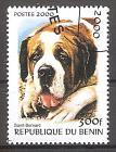 Briefmarke Benin Mi.Nr. E1231 o Hunderassen 2000 Motiv: Hunde - Bernhardiner (#10086)