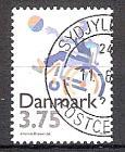 Briefmarke Dänemark Mi.Nr. 1120 o 25 Jahre Dänischer Sportverband der Behinderten (DHIF) 1996 Motiv: Sport - Rollstuhl Basketball (#10097)