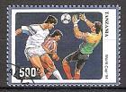 Briefmarke Tansania Mi.Nr. 1766 o Fußball-Weltmeisterschaft USA 1994 (Einzelmarke aus Block 249) Motiv: Fussball - Spielszene (#10102)
