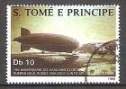 """Briefmarke Sao Tome & Principe Mi.Nr. 1058 o 150. Geburtstag von Ferdinand Graf von Zeppelin 1988 Motiv: Zeppelin - Luftschiff LZ-127 """"Graf Zeppelin"""" (1931) (#10103)"""