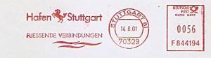 Freistempel F844194 Stuttgart - Hafen Stuttgart - Fliessende Verbindungen (Abb. Pferd) (#1368)