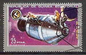 Briefmarke Äquatorial Guinea Mi.Nr. 24 o Apollo 15 1972 Motiv: Weltraum - Apollo Raumschiff (#10108)