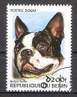 Briefmarke Benin Mi.Nr. C1231 o Hunderassen 2000 Motiv: Hunde - Boston-Terrier (#10111)