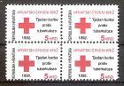 Briefmarke Kroatien Zwangszuschlagsmarke Mi.Nr. 24 ** (Viererblock!) Rotes Kreuz - Woche der Tuberkulose-Bekämpfung 1992 Motiv: Rotes Kreuz (#10114)