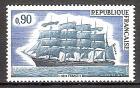 Briefmarke Frankreich Mi.Nr. 1839 ** Großsegelschiffe 1973 Motiv: Schiffe - Fünfmastbark France II (#10118)