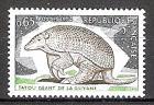 Briefmarke Frankreich Mi.Nr. 1892 ** Naturschutz 1974 Motiv: Tiere - Riesengürteltier (Priodontes giganteus) (#10121)