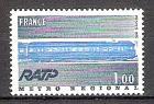 Briefmarke Frankreich Mi.Nr. 1928 ** 75 Jahre Pariser Metro 1975 Motiv: Eisenbahn - Triebwagenzug Typ MS 61 der Pariser Metro (#10122)