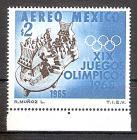 Briefmarke Mexiko Mi.Nr. 1196 ** Olympiade Mexiko 1968 Motiv: Sport - Tlachtli-Ballspiel-Platz mit Spielern, Schiedsrichtern und Zuschauern (#10128)