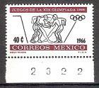 Briefmarke Mexiko Mi.Nr. 1215 ** Olympiade Mexiko 1968 Motiv: Sport - Ringen, Boxen (#10130)