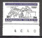 Briefmarke Mexiko Mi.Nr. 1214 ** Olympiade Mexiko 1968 Motiv: Sport - Läufer, Hochsprung, Olympisches Feuer (#10131)