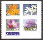 Briefmarke Schweiz Mi.Nr. 2193-2196 ** Gemüseblüten 2011 (Kompletter Satz! auf Original-Folienblatt!) Motiv: Flora / Gemüse - Zucchini, Kiefelerbse, Bärlauch, Artischocke (#10140)