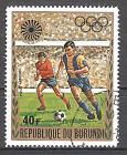 Briefmarke Burundi Mi.Nr. 866 A o Olympiade München 1972 Motiv: Sport - Fussball (#10144)