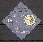 Briefmarke Burundi Mi.Nr. 199 A o Jahr der internationalen Zusammenarbeit 1965 Motiv: Weltraum - US-Nachrichtensatellit Telstar (#10145)