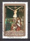 Briefmarke Burundi Mi.Nr. 924 A o Ostern 1973 Motiv: Gemälde - Beweinung des Gekreuzigten von Grünewald (#10146)