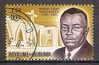 Briefmarke Burundi Mi.Nr. 44 A o  Prinz Louis Rwagasore 1963 Motiv: Politiker - Louis Rwagasore (#10150)