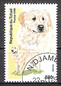 Briefmarke Tschad Mi.Nr. ---- o (Nicht im Michel katalogisiert!) Hunderassen 1999 Motiv: Hunde - Kuvasz (#10155)