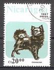 Briefmarke Nicaragua Mi.Nr. 2794 o Hunde 1987 Motiv: Hunde - Chihuahua (#10158)