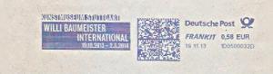 Freistempel 1D0500032D Stuttgart - Kunstmuseum Stuttgart - WILLI BAUMEISTER INTERNATIONAL 19.10.2013 - 2.3.2014 (#1477)