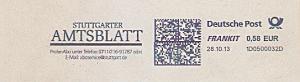 Freistempel 1D0500032D Stuttgart - Stuttgarter Amtsblatt (#1479)
