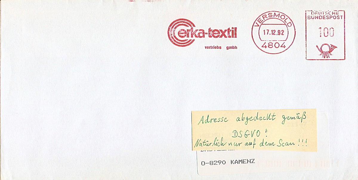Freistempel Versmold - Erka-Textil Vertriebs GmbH (#AFS24) 0
