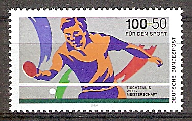 Briefmarke BRD - Bund Mi.Nr. 1408 ** Tischtennis-Weltmeisterschaften in Dortmund 1989 Motiv: Sport - Tischtennis (#10165) 0