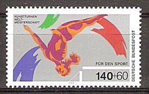 Briefmarke BRD - Bund Mi.Nr. 1409 ** Kunstturn-Weltmeisterschaften in Stuttgart 1989 Motiv: Sport - Turnen (#10166)