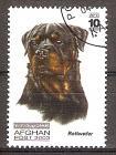 Briefmarke Afghanistan Mi.Nr. 1981 o Hunderassen 2003 Motiv: Hunde - Rottweiler (#10178)