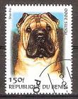 Briefmarke Benin Mi.Nr. B1231 o Hunderassen 2000 Motiv: Hunde - Shar-Pei (#10183)