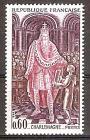 Briefmarke Frankreich Mi.Nr. 1562 ** Große Namen aus der französischen Geschichte 1966 Motiv: Könige - Karl der Große (742-814) (#10188)