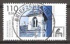 Briefmarke BRD - Bund Mi.Nr. 2199 o Bewahrung kirchlicher Baudenkmäler 2001 Motiv: Religion / Architektur - Glockenturm der Dorfkirche von Canzow (#10190)