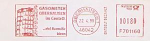 Freistempel F701160 Oberhausen - GASOMETER OBERHAUSEN im CentrO. ... viel Raum für Ideen (Abb. Industriedenkmal Gasometer) (#1505)